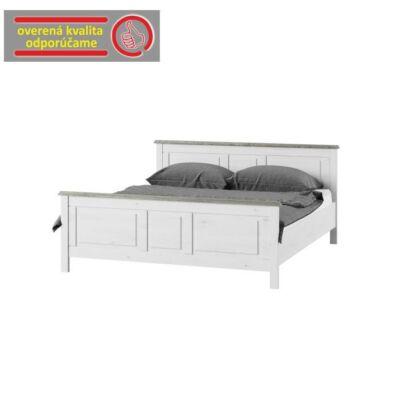 Ágy 160x200 cm, fehér, LIONA