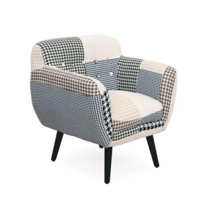 Modern fotel, mintás textil, PEPITO 6 típus