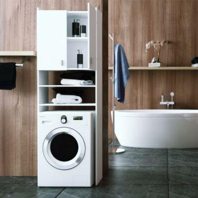 Praktikus szekrény - fehér,mosógép szekrény