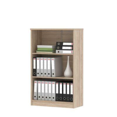 Alacsony könyvespolc, sonoma tölgyfa, JOHAN NEW 03