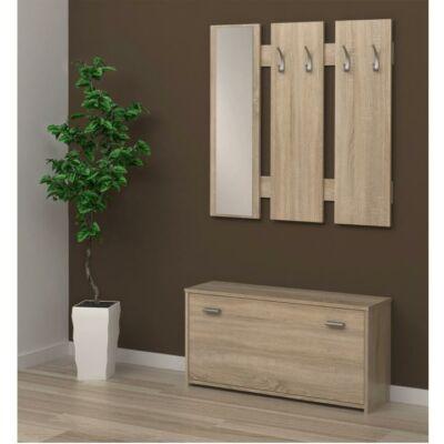 LADA 03 előszobafal, sonoma tölgyfa - világos