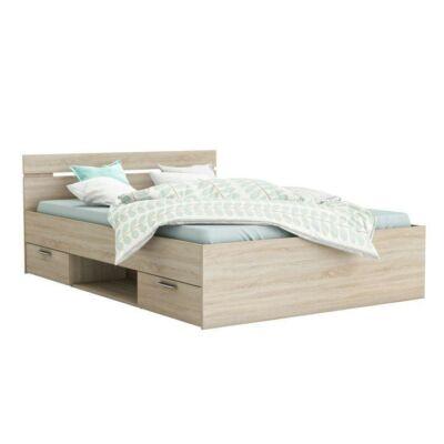 MICHIGAN ágy fiókokkal, 140x200, sonoma tölgy