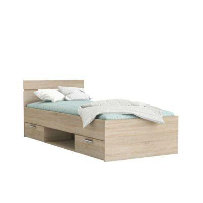 MICHIGAN ágy fiókokkal, 90x200, sonoma tölgy