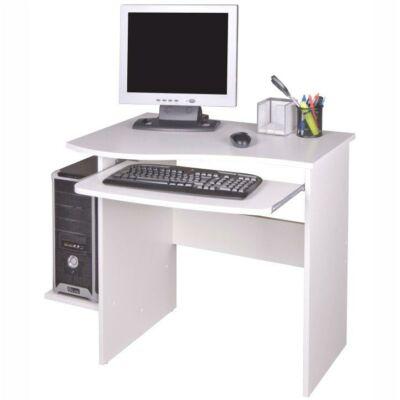 Számítógépasztal, fehér, MELICHAR