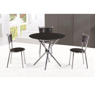 LAMAR étkezőasztal fekete üveggel