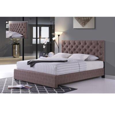 CLOVER Ágy lécezett ágyráccsal, színváltozat: barna ,180x200