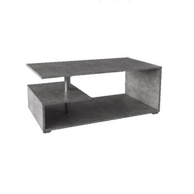 Dohányzóasztal, beton színű, DORISA