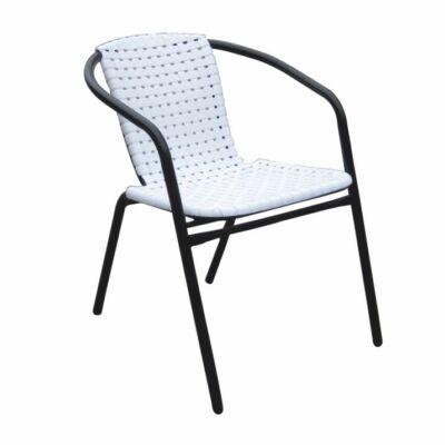 BERGOLA Egymásra rakható szék, Szín : fehér / fekete