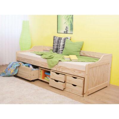 Többfunkciós ágy, természetes szín, 90x200, MAXI