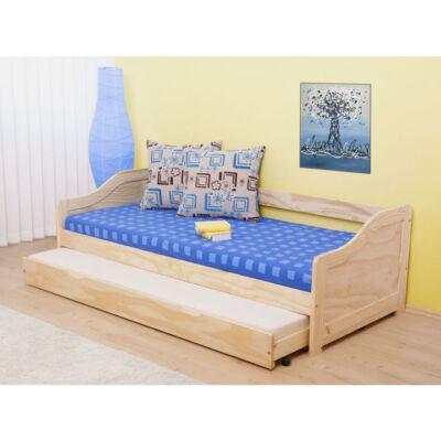 Ágy kihúzható pótággyal, tömörfából, 90x200, LAURA