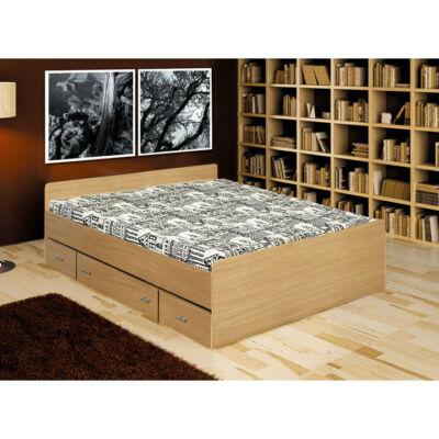 DUET franciaágy 3 fiókkal, bükkfa, 160x200cm