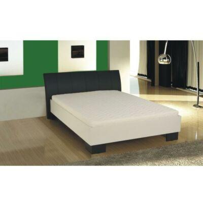 Franciaágy, fekete textilbőr / fehér lamino, 160 x 200, TALIA