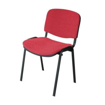 Egymásra rakható szék, piros, ISO NEW