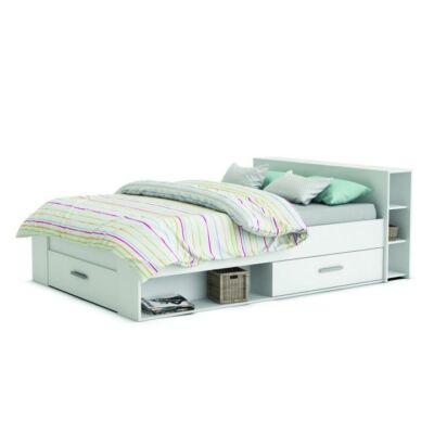 ROKET ágy fiókokkal, 140x200, fehér