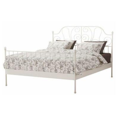 Fém ágy lécezett ráccsal, fém (fehér), 160x200, BEHEMOTH