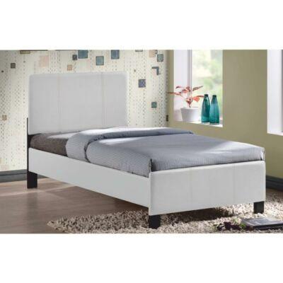 Ágy ágyráccsal, 90x200, fehér, ARKONA