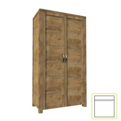 Akasztós szekrény 2-ajtós, lefkas tölgyfa, NEVADA