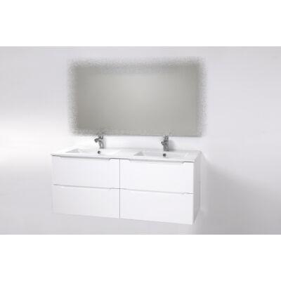 Elit 120 függesztett, négyfiókos, dupla mosdós fürdőszoba szekrény