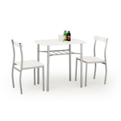 LANCE asztal + 2 szék, fehér