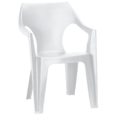 Curver Dante alacsony támlás műanyag kerti szék, fehér