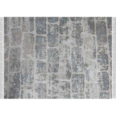 Szőnyeg, szürke/minta tégla, 120x180, MURO