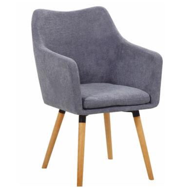 DAREL fotel szürke szövet / tölgy
