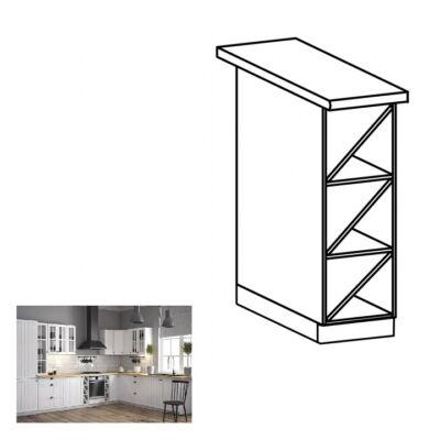 PROVANCE D20P alsó szekrény két polccal, fehér