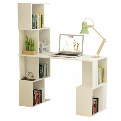 PC asztal könyvespolccal fehér FLOKI NEW