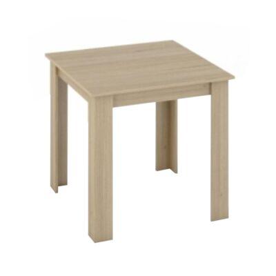 Étkezőasztal, tölgy sonoma, 80x80, KRAZ