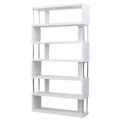 Többfunkciós könyvespolc, fehér, ALIS