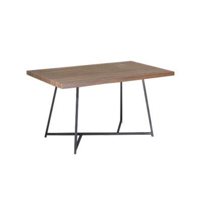 Étkezőasztal, sötét dió/fekete, SVARAN