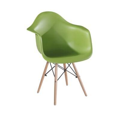 Fotel, bükkfa + kék, DAMEN
