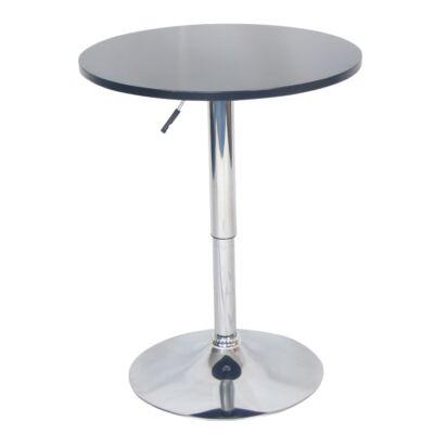 Bárasztal, magasság állítással, króm/fekete, BRANY NEW