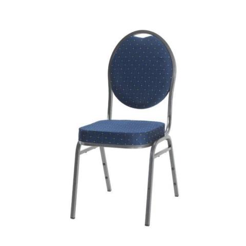 VELENCE bankett szék szürke vázzal kék kárpittal