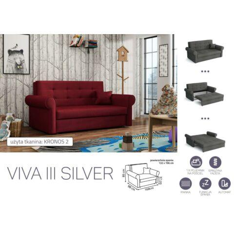 VIVA SILVER III. előre nyíló rugós kanapé