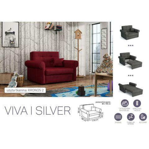 VIVA SILVER I. előre nyíló rugós fotelágy