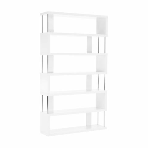 Többfunkciós könyvespolc fehér ALIS