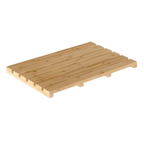 Csúszásgátló szőnyeg a fürdőszobába, természetes lakkozott bambusz, KLERA