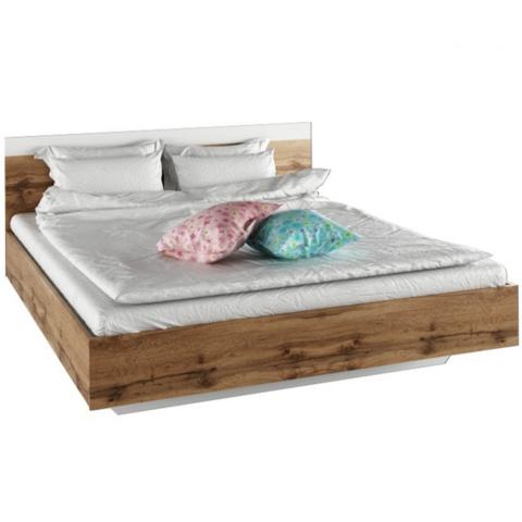 Dupla ágy 180x200 tölgy wotan fehér GABRIELA