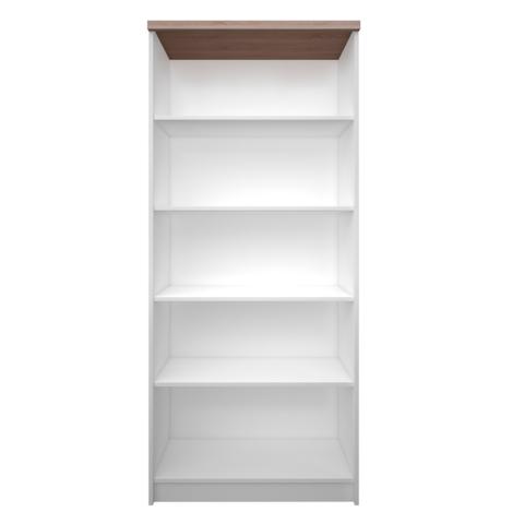 Magas nyitott polcos szekrény 80DTD laminált fehér  és  sonoma tölgyfa TOPTY