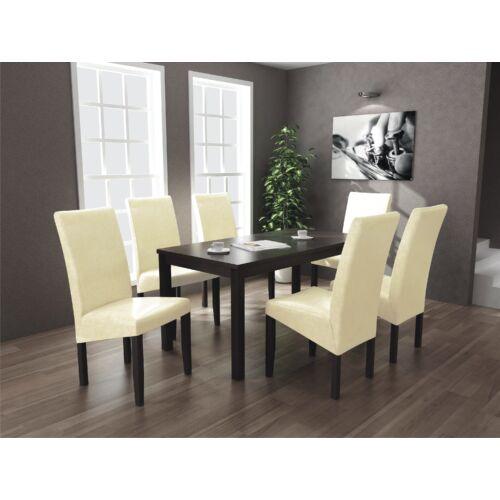 Berta étkezőgarnitúra 6 és 1 Divián (6db Berta szék  és  1db 160-as Berta asztal)