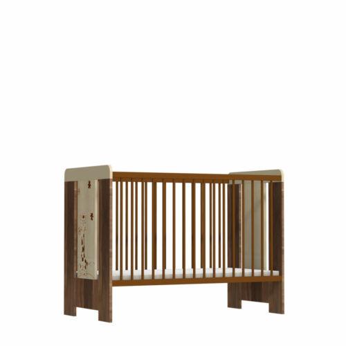 Faktum Makaó - 120-as babaágy kiságy rágásvédővel ágyneműtartóval (zsiráf mintával)