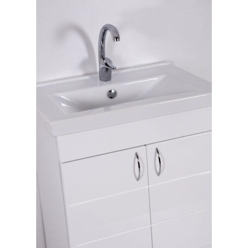 Héra 65 SOFT mart 2-ajtós mosdós fürdőszobai szekrény mosdókagylóval