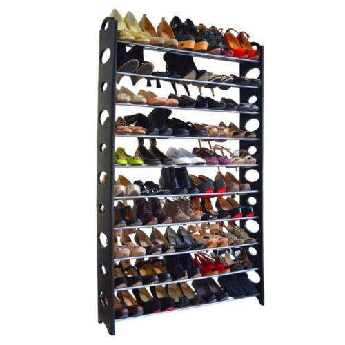 10-soros cipőpolc műanyag és fém szürke fekete BOTIS 4 TÍPUS