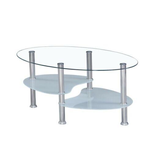 Dohányzóasztal acél  és  áttetsző és tejüveg WAVE NEW