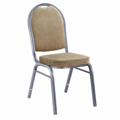 Egymásra rakható szék bézs színű szövet   szürke kalapács keret JEFF NEW