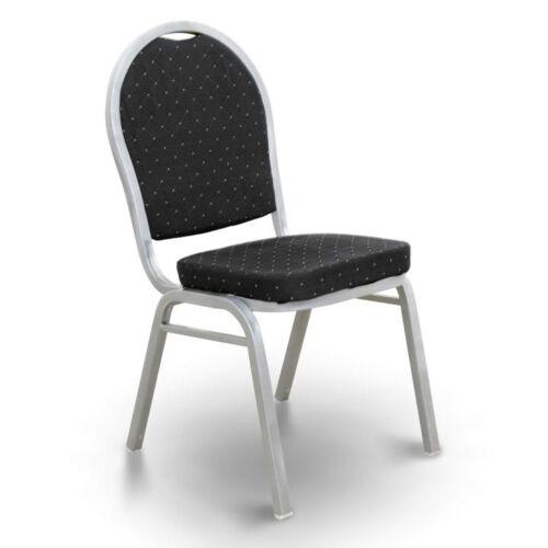 JEFF egymásra rakható szék fekete szövet szürke kalapács keret