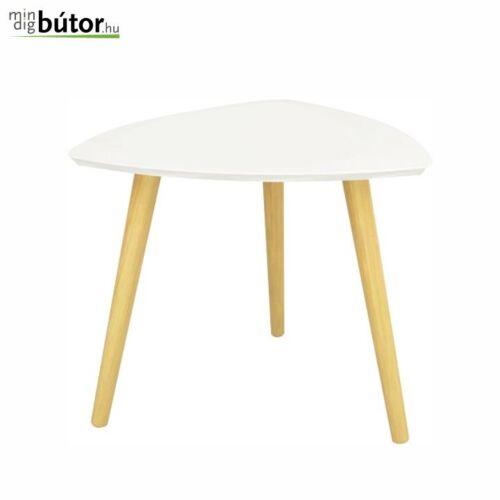 Kisasztal fehér   természetes fa TAVAS