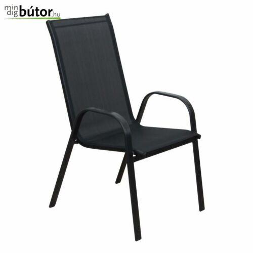 ALDERA  Egymásra rakható szék szín : fekete   sötétszürke
