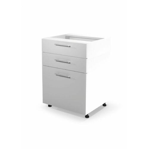 Vento d3s-60/82 alsó szekrény fiókokkal magasfényű fehér